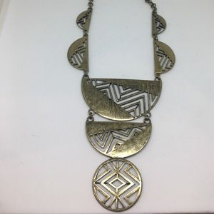 Tribal long gold necklace!!!